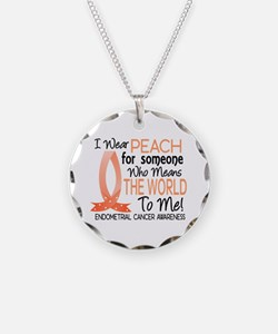 Means World To Me 1 Endometrial Cancer Shirts Neck