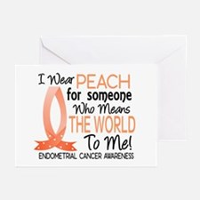 Means World To Me 1 Endometrial Cancer Shirts Gree