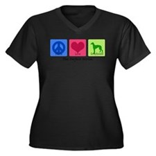 Cute The perfect world Women's Plus Size V-Neck Dark T-Shirt