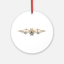 Industrial bat (gold) Ornament (Round)