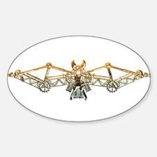 Industrial bat (gold) Decal