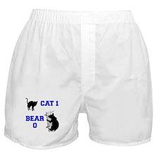 Cat vs. Bear Boxer Shorts