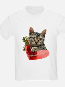 Gray Kitten Momma's Girl T-Shirt