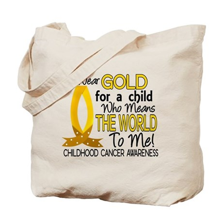 Means World To Me 1 Childhood Cancer Shirts Tote B