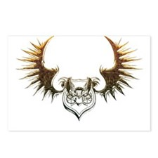 Industrial curved bat (gold) Postcards (Package of