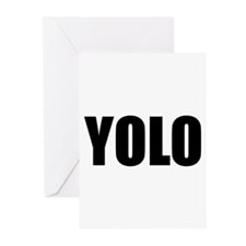 YOLO (You Only Live Once) Greeting Cards (Pk of 20