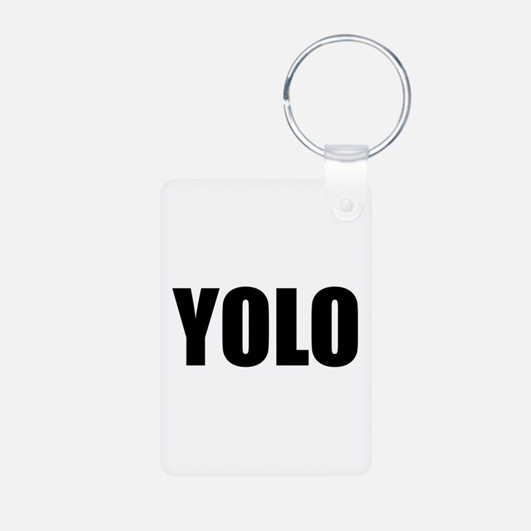 YOLO (You Only Live Once) Aluminum Photo Keychain