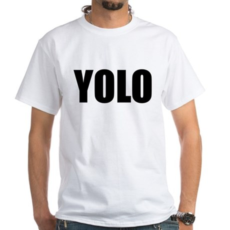 YOLO White T-Shirt
