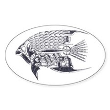 Industrial fish (silver) Decal