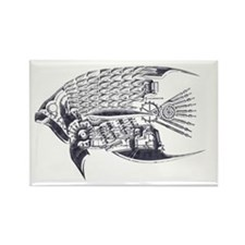 Industrial fish (silver) Rectangle Magnet