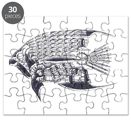 Industrial fish (silver) Puzzle