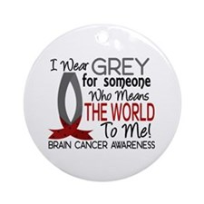 Means World To Me 1 Brain Cancer Shirts Ornament (