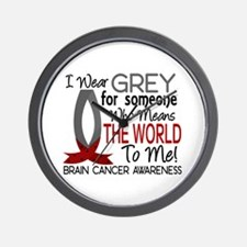Means World To Me 1 Brain Cancer Shirts Wall Clock