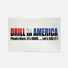 Drill in America #2 Design Rectangle Magnet