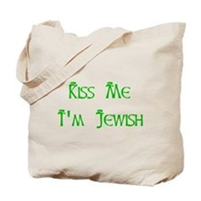 KIss Me I'm Jewish Tote Bag