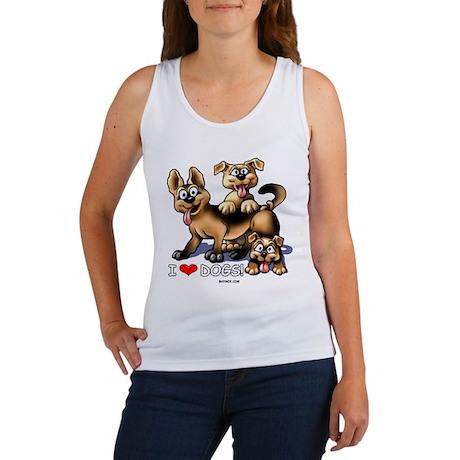 I Love Dogs Women's Tank Top