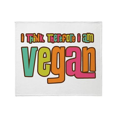 Think Vegan Throw Blanket