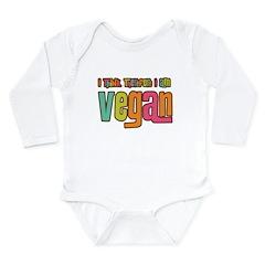 Think Vegan Long Sleeve Infant Bodysuit