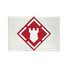 SSI - 20th Engineer Brigade Rectangle Magnet