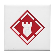 SSI - 20th Engineer Brigade Tile Coaster