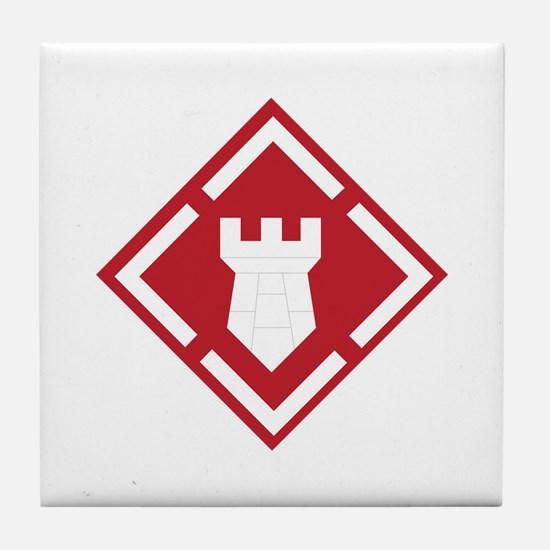 SSI - 20th Engineer Brigade Tile Coaster