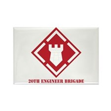 SSI - 20th Engineer Brigade with Text Rectangle Ma