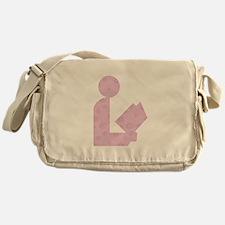 Purple Swirls Library Logo Messenger Bag