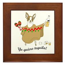 Yo Quiero Tequila Chihuahua Framed Tile