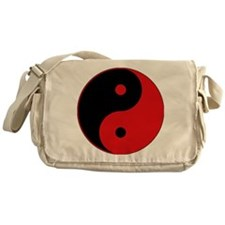Yin & Yang (Red/Black) Messenger Bag