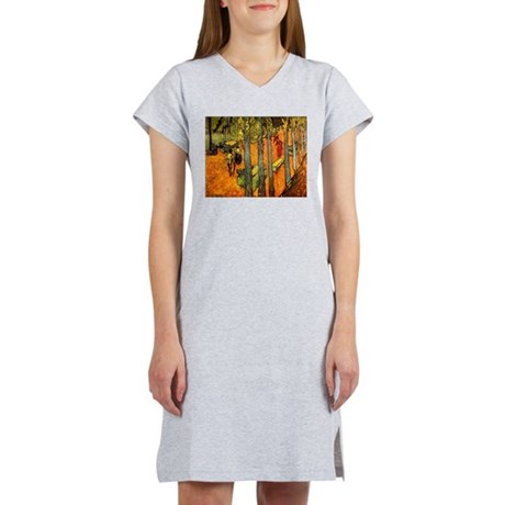 Alyscamps by Vincent Van Gogh Women's Nightshirt