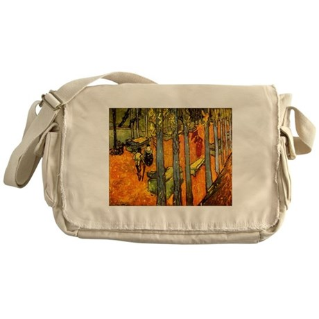 Alyscamps by Vincent Van Gogh Messenger Bag