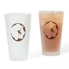 A Climber's World Drinking Glass