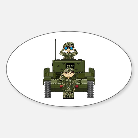 Army Soldiers and Tank Decal
