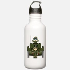 Army Soldiers and Tank Water Bottle