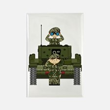 Army Soldiers and Tank Magnet