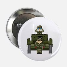 """Army Soldiers and Tank 2.25"""" Button"""