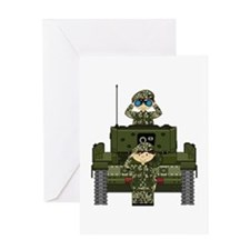 Army Soldiers and Tank Greeting Card
