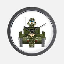 Army Soldiers and Tank Wall Clock