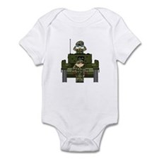 Army Soldiers and Tank Infant Bodysuit