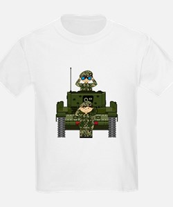 Army Soldiers and Tank T-Shirt