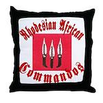Rhodesia Commandos Throw Pillow