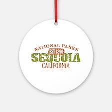 Sequoia National Park CA Ornament (Round)