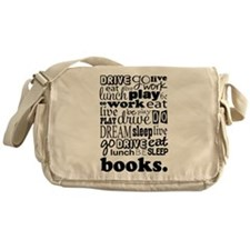 Eat Sleep Books Messenger Bag