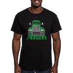 Trucker Alan Men's Fitted T-Shirt (dark)