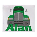 Trucker Alan Throw Blanket