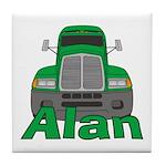 Trucker Alan Tile Coaster