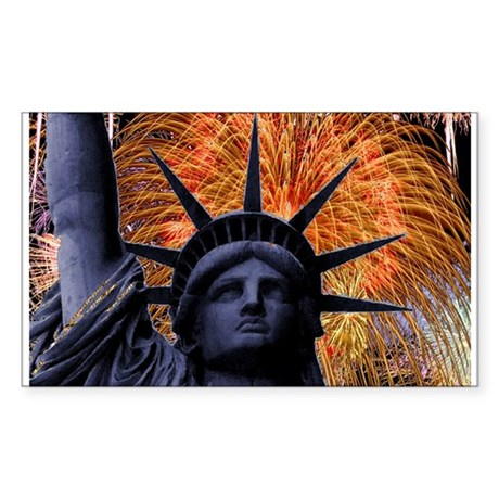 Statue of Liberty Fireworks Sticker