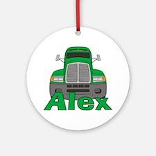 Trucker Alex Ornament (Round)