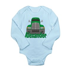 Trucker Alexander Long Sleeve Infant Bodysuit