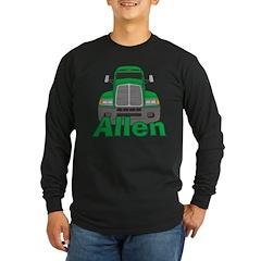 Trucker Allen Long Sleeve Dark T-Shirt